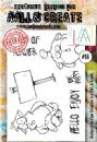 AALL and Create A6 Clear Stamp Set #18 By Olga Heldwein